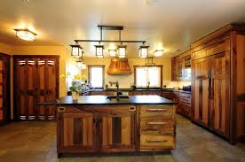 mission style kitchen lighting. rustic kitchen designed with mission style island lighting i