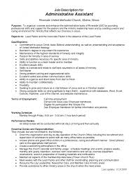 cover letter administrative assistant job description it cover letter music researcher resume personal assistant job description music xadministrative assistant job description large size