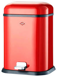metal kitchen trash cans cool automatic can for red slim to with lid