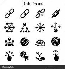 リンク アイコン セット ベクトル イラスト グラフィック デザイン