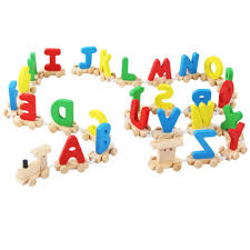 product details of huilopker kids wooden train toy with english letters educational assemble alphabet toy