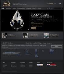 lucky glass chandeliers s website screenshot on jun 2017