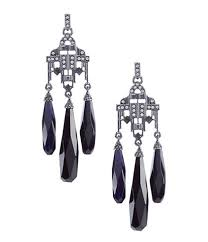 lauren ralph lauren jet stone chandelier earrings