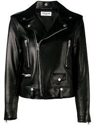 saint lau classic leather biker jacket women clothing yves saint lau rouge volupte yves