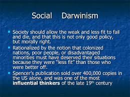 social darwinismanditsaffectsonthe robber social darwinism