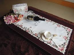 elegant runner coffee table cover