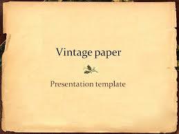 Vintage Paper Presentation Template By Lightpixel Graphicriver