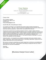 Great Resume Cover Letters Cover Letter Example Business Analyst