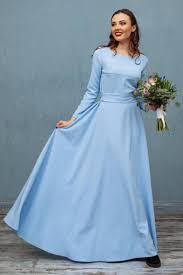 Long Light Dress Long Light Blue Party Ball Dress With Long Sleeves And Amazing Skirt By Nadi Renardi