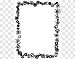 flower black and white clip art chain