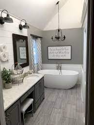 62 Stunning Farmhouse Bathroom Tiles Ideas Bathroom Inspiration Modern Farmhouse Bathroom Bathrooms Remodel