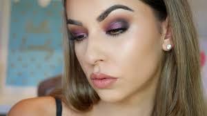 purple smokey eye makeup tutorial for hooded eyes you