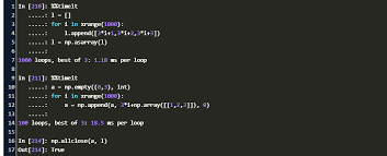 numpy for loop append array code exle