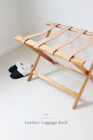 Luggage Racks For Guest Rooms Adorable DIY Leather Luggage Rack Almost Makes Perfect