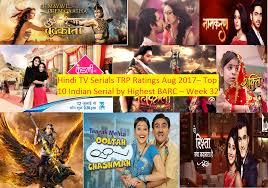 Hindi Tv Serials Trp Ratings Aug 2017 Top 10 Indian Serial