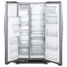 whirlpool side by side refrigerator stainless steel. side by refrigerator in fingerprint resistant whirlpool stainless steel