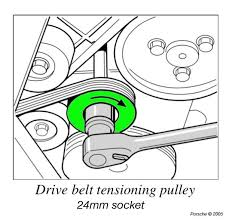 likewise Replacing a Drive Belt   Supercheap Auto further Honda Civic Si Idler Pulley   Tensioner Pulley Replacement DIY further 2009 Dodge Charger Drive Belt   AutoPartsWarehouse further 2 4L serpentine belt replacement additionally 2003 2007 Honda Accord Serpentine Belt Replacement  2003  2004 besides  furthermore Image Gallery serpentine belt furthermore Audi Archives   RennWerks moreover Changing a Car Serpentine Belt   Family Handyman in addition . on how often rep serpentine belt
