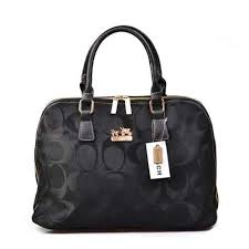 Coach Logo Monogram Large Black Satchels DOQ