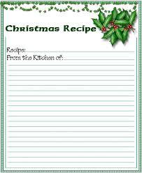 Christmas Recipe Card Free Printable Christmas Recipe Card Visit Webtalkmedia Com For