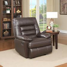 serta big tall memory foam massage recliner faux leather multiple color options com