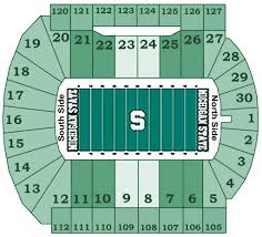 Maryland Football Stadium Seating Chart Michigan State Spartans 2014 Football Schedule