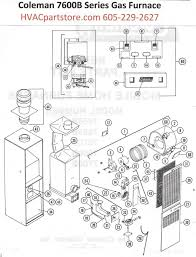 lennox furnace parts diagram. 7670b856 coleman gas furnace parts lennox diagram