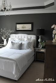 Dear Lillie: Master Bedroom. -Perfect combination: black, gray and white.  Well ... It looks like a raccoon, but I love it!