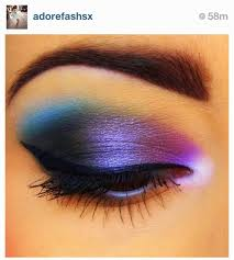 colorful pink eyeshadow ideas cool colors makeup pink