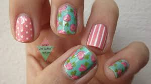 Nail Design Flowers ~ Nails floral nail art cute pretty prom flower