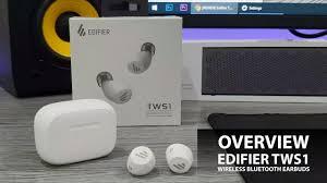 Overview <b>Edifier TWS 1 Wireless Bluetooth</b> Earbuds - YouTube
