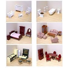 doll house furniture sets. Amazon.com: Melissa \u0026 Doug Deluxe Doll-House Furniture Bundle - Living Room Set, Kitchen, Bedroom, Bathroom, Nursery, And Dining Room: Toys Games Doll House Sets D