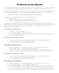 Objective In Resume Samples Examples Of Objective For Resume Wording Career Objective Examples