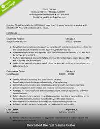 social workers resumes hospital social worker sample resume best of social work resume