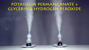 potassium permanganate glycerin hydrogen peroxide cool chemical experiment you