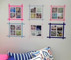 Decorations:Smart Ideas To Display Unframed Photos And Postcards On Wall  Cute Photo Wall Decorating