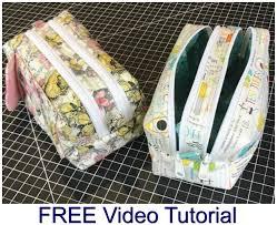 two zipper boxy bag free sewing pattern