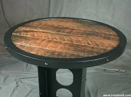wood bistro table steel and reclaimed wood table round reclaimed wood pub table wood bistro table
