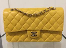 chanel yellow bag. yellow. chanel yellow classic flap medium bag o