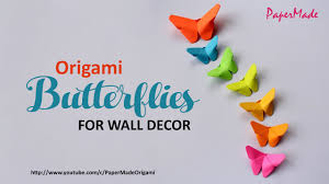 Small Picture Paper Butterflies For Your Wall Decoration DIY Decor