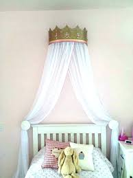 Canopy Bed Crown Serene Floral Crib Nursery Decor Molding Pewter