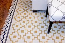ikea alvine ruta area rug mat wool yellow black white flatwoven hand woven