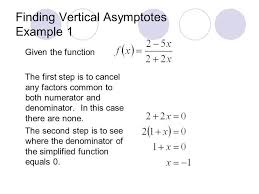 4 finding vertical asymptotes