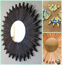 diy wood starburst mirror frame instruction diy decorative mirror frame ideas and projects