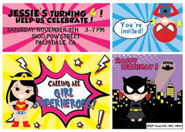superheroes birthday party invitations all girl superhero birthday party invite invitation batgirl