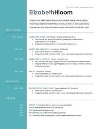 Resume Design O A Good Resume Example