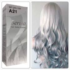 Light Grey Dye Berina Hair Colour Permanent Cream Hair Dye Cream Light Grey