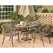 bronze 5 piece round patio dining set