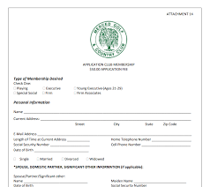 Application For Membership Membership Merced Golf Country Club