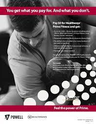 prime fitness announcement flyer