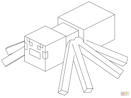 minecraft spider coloring page free printable